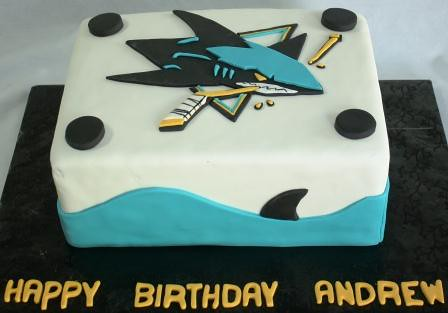 San Jose Sharks Logo Birthday Cake Andrew | Jeanne | Flickr