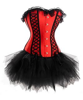 pink laceup corset  tutu set  corset dress corset  tutu