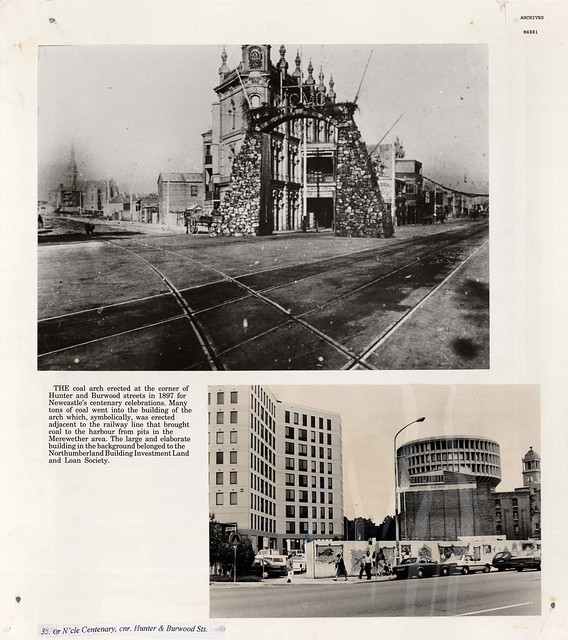 M4881 Two views of Hunter Street, Newcastle, 1897 & 1992.