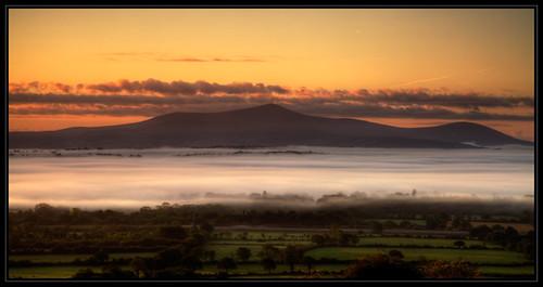 morning kilkenny ireland fog sunrise landscape early mountleinster mtleinster