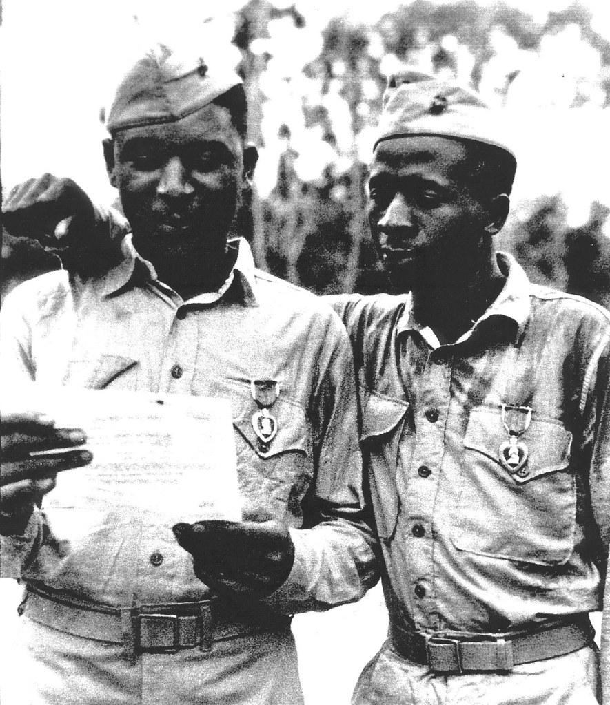 Purple Heart Recipients, Saipan, 1944