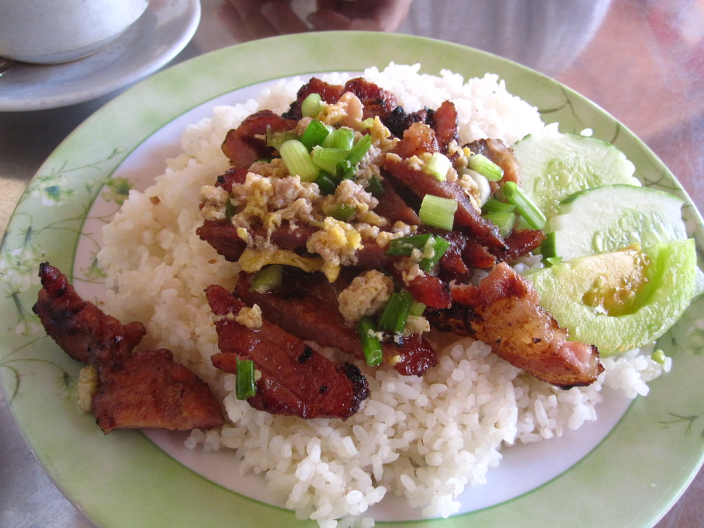 Image result for Pork and rice cambodian