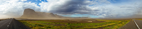 Windy sand storm in Iceland | by Joel Van Horn