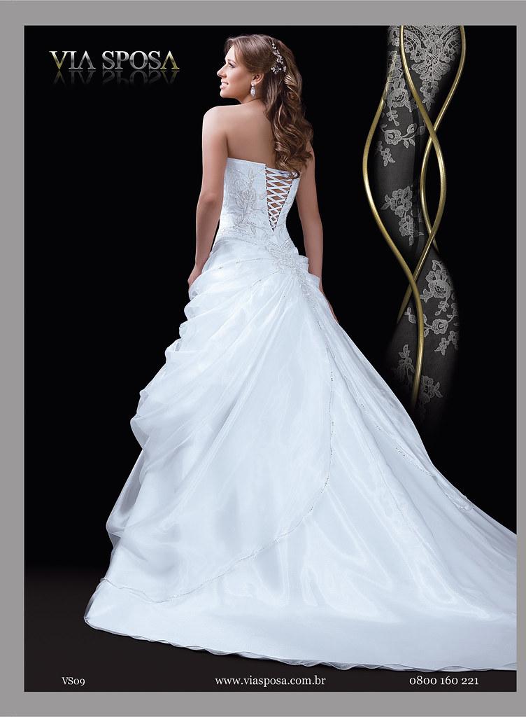 efa0831150 ... Modelo de Vestido de Noiva Coleção Milão 2011 - Via Sposa
