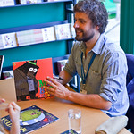 Ed Vere signing | Ed Vere signing his book Bedtime for Monsters