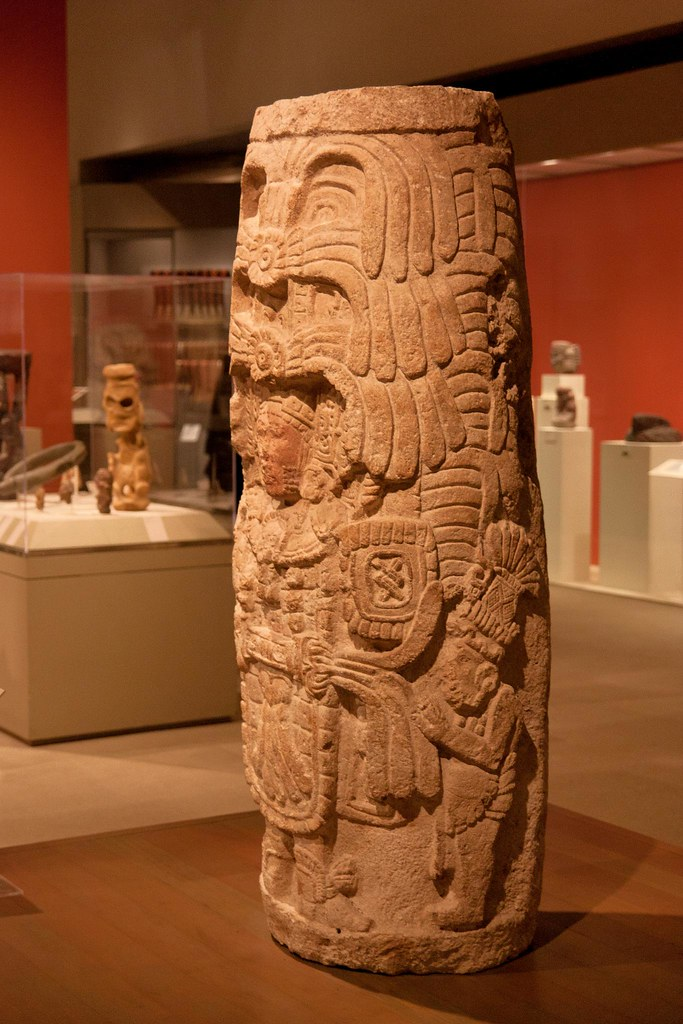 Classic Period (250–900 AD) Stelae were stone banners errected to glorify the king and record his deeds fashioned by the Maya civilization of ancient Mesoamerica.  The Metropolitan Museum allows photo shooting providing there is no financial gain.  Please respect their policy