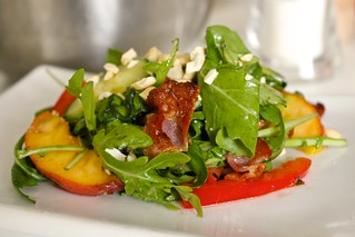 Green Salad with Bacon & Peaches | by Seafield Farm