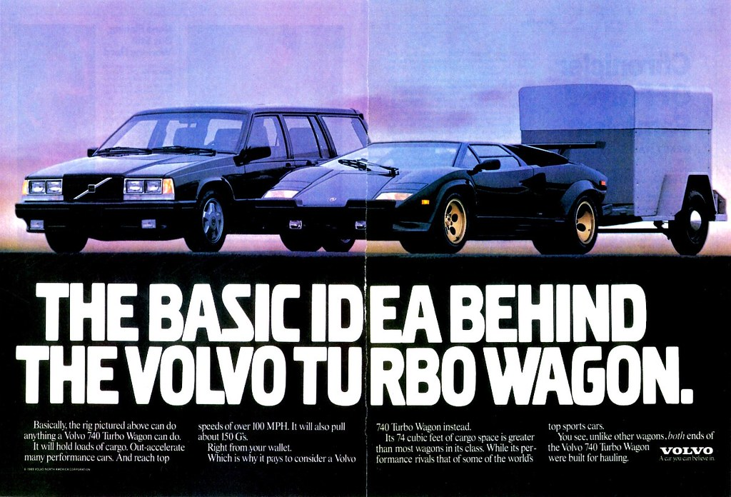 1989 Volvo 740 Turbo Wagon Ad Alden Jewell Flickr