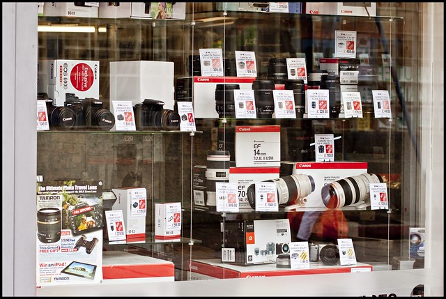 camera shop in swindow