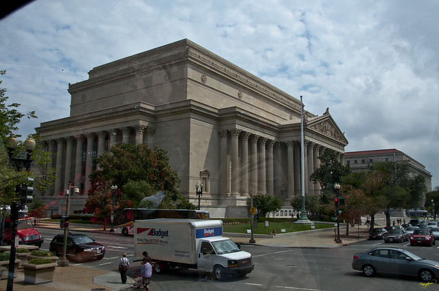 View from open top bus, Washington DC