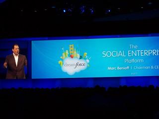 Marc Benioff in Dreamforce keynote