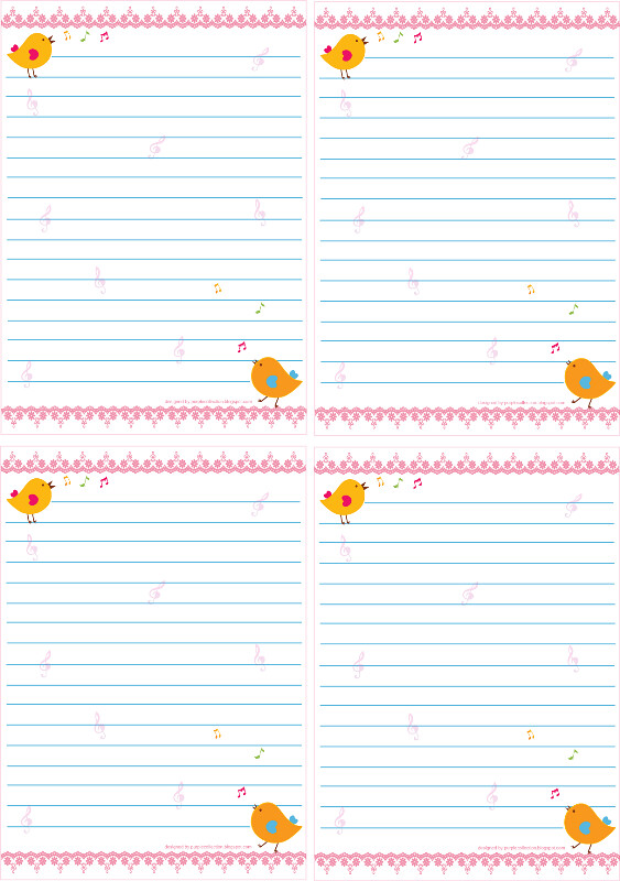 photograph about Printable Notepad referred to as Singing Birds Absolutely free Printable Notepad Towards obtain this totally free
