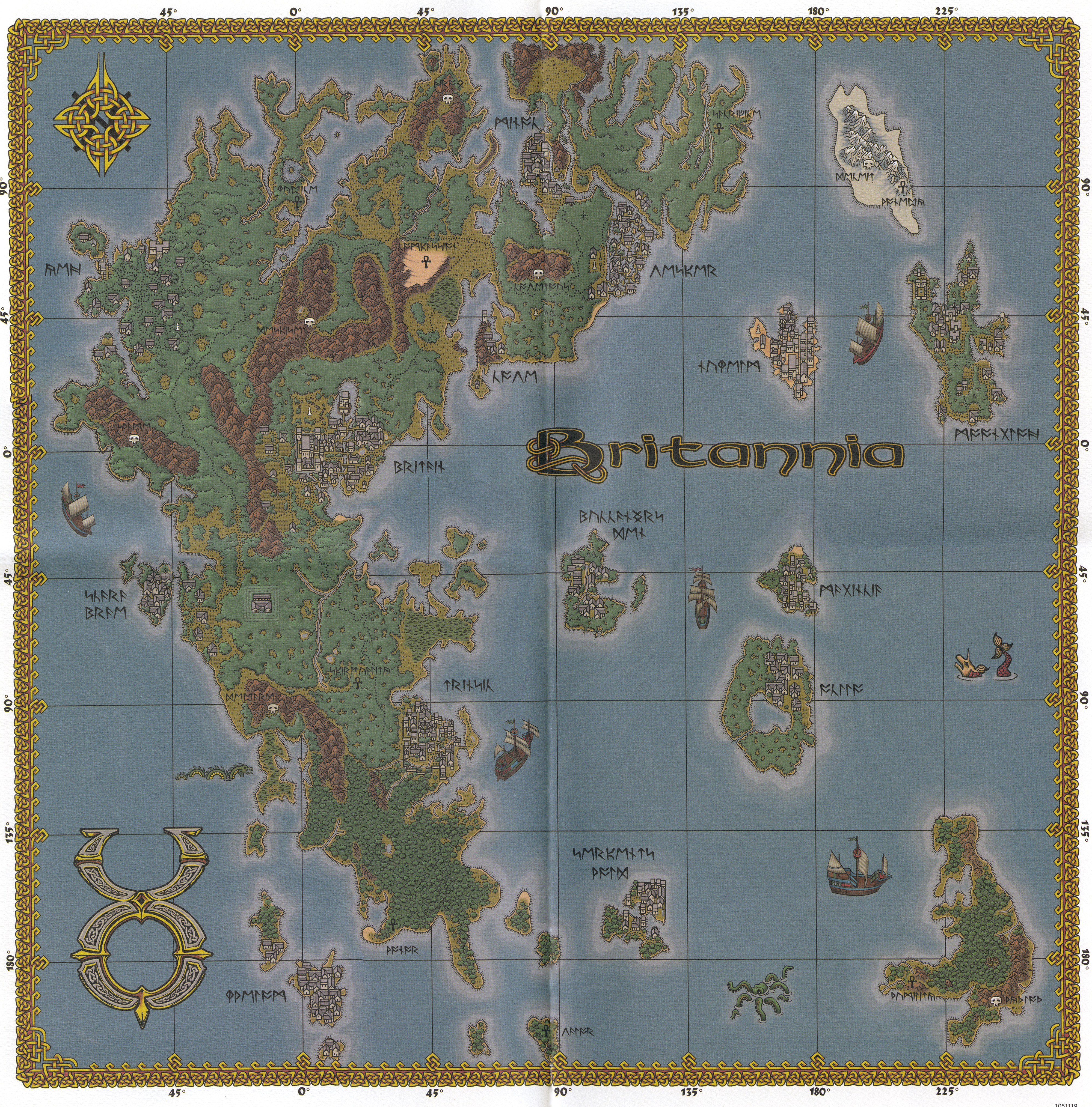 All sizes | Ultima Online: The Second Age - Map of Britannia