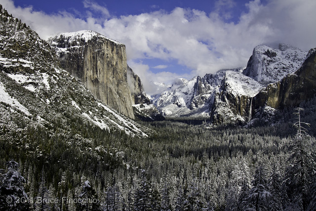 Light, Shadows, and Snow Cover Yosemite Valley