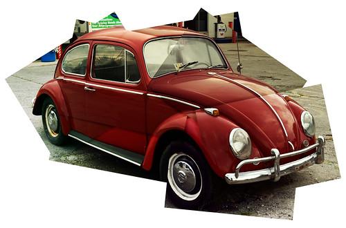 red copyright classic car vw vintage bug automobile beetle german montage allrightsreserved volkswagon 7photos legacylens legacyglass konicahexanon57mm112 ©daveelmore