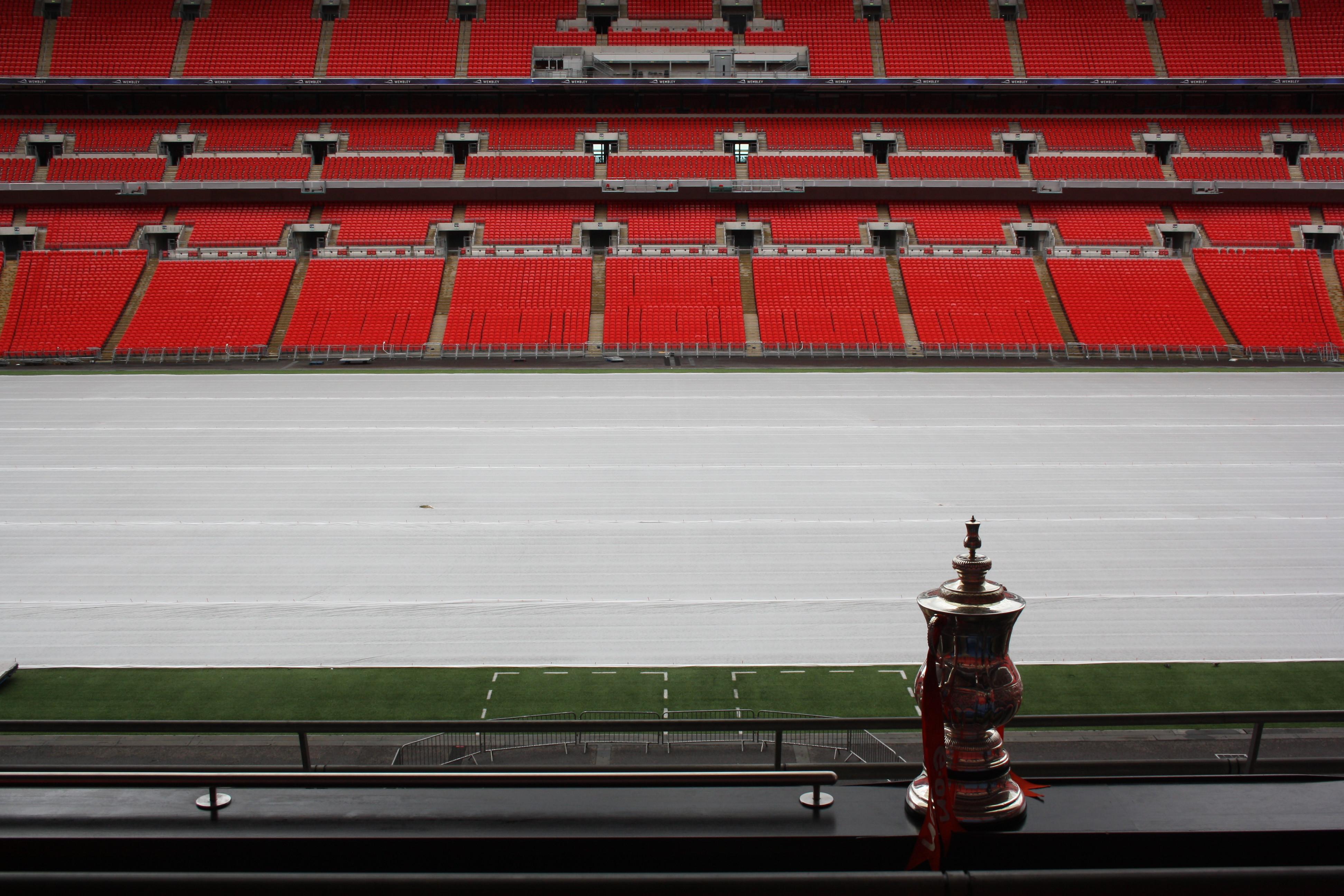 Replica FA Cup at Wembley