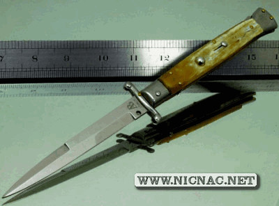switchblade swing guards knife italian stiletto bayo blade