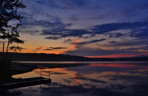 sunset poconos tobyhannalake monroecountypa