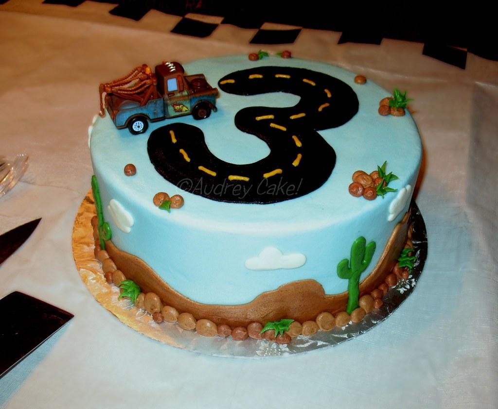Cars 3rd Birthday Cake