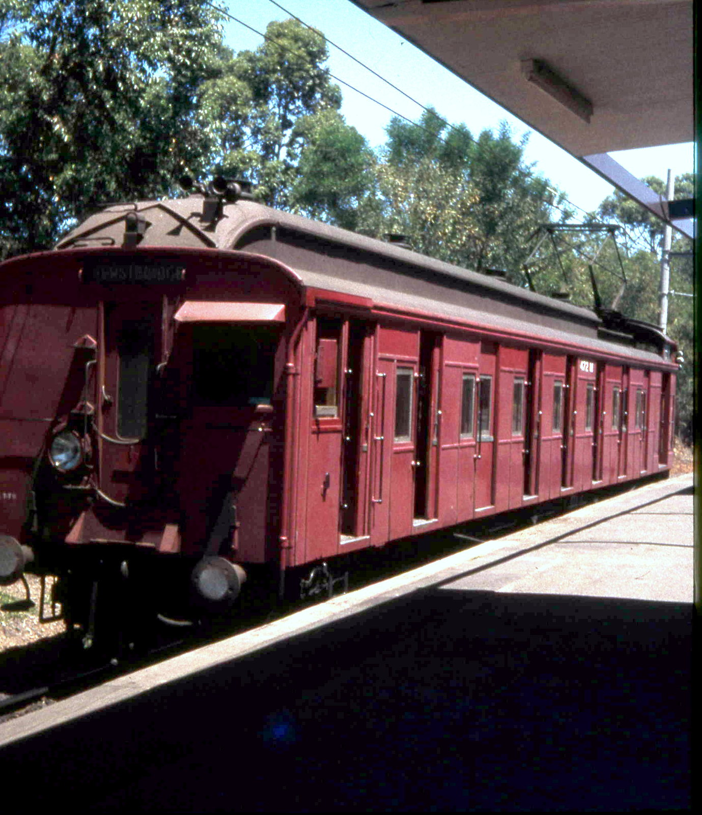 Single Car Red 472 M Eltham c 1980 by MurrayJoe