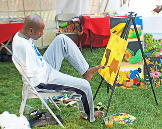 Haitian Artist Paints with Feet Overcomes Disability | by Gary Eckstein