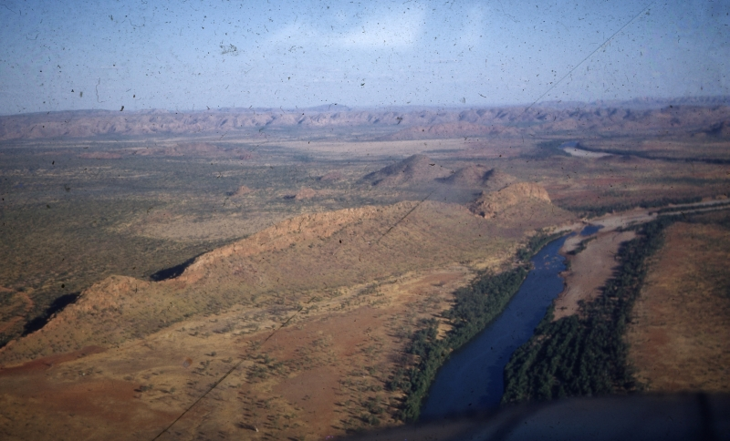 1953-ca - The end of the Carlton Reach Waterhole by the head of the Sleeping Buddha - Bill Wright 35mm Slide Collection - KHS-2011-46-cb-P-D