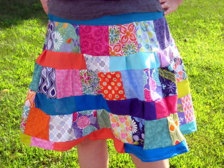 Terrain Patchwork Skirt | by quiltyhabit