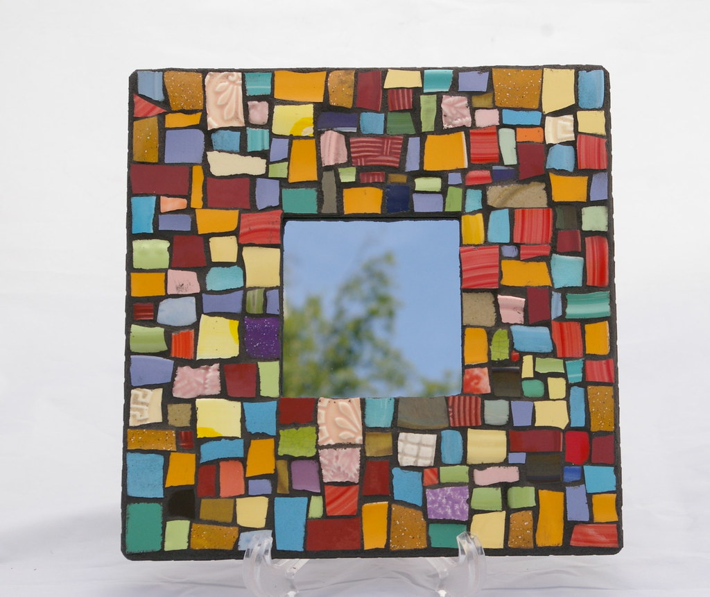 Mixed Solids Broken Plate Mosaic Mirror Broken Plates Bro Flickr