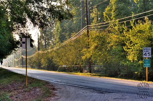 powerlines hdr countryroad
