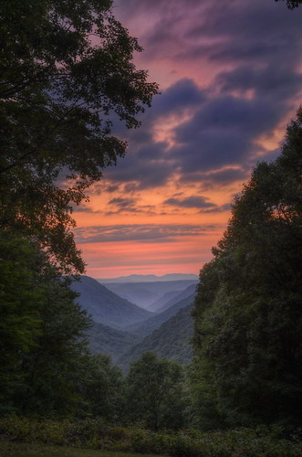sunset mountains nature sundown state westvirginia babcock d90 twikight parkhdrphotomatixtonemappedhdr sunsetnikonnikon