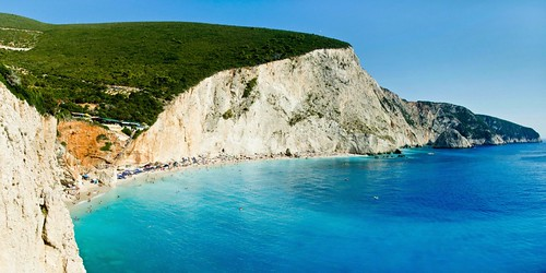 panorama beach landscape greece grecia lefkada portokatsiki nikond7000