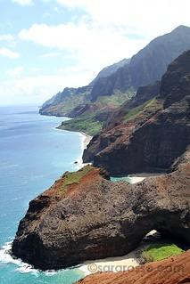 Honopu Arch, Na Pali coast, Kauai, Hawaii | by MsAdventuresinItaly
