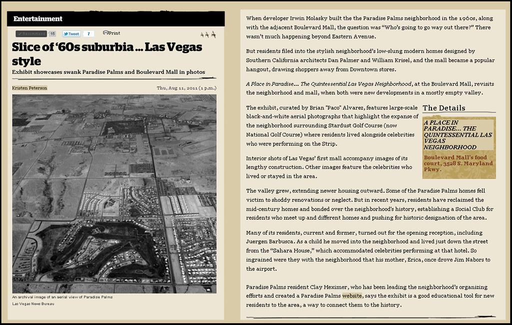 Las Vegas Weekly 8 11 2011   Paradise Palms    Flickr