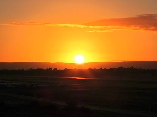 clouds plane sunrise airport runway jandakot darlingrange