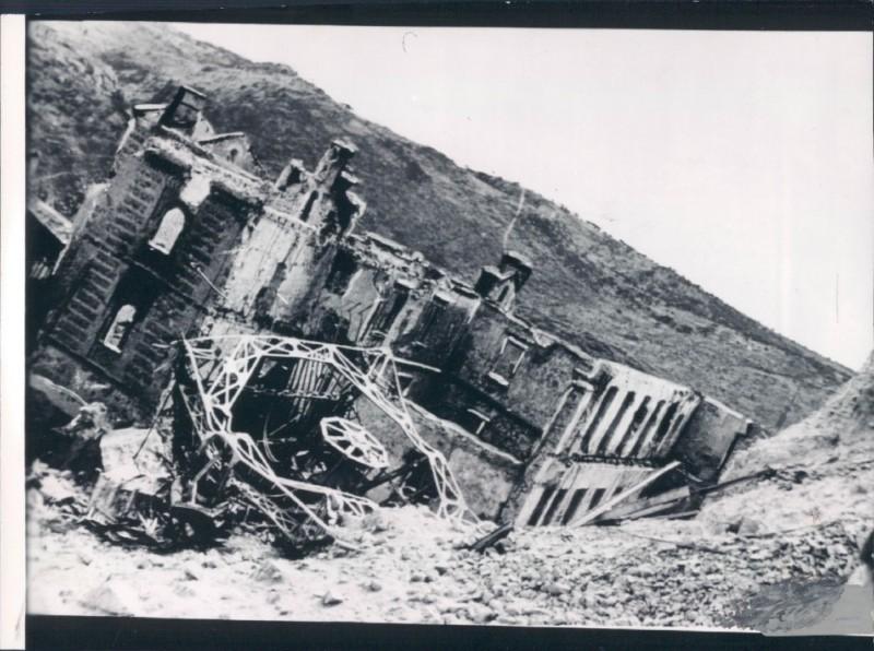 Edificio de Capuchinos destruido en la guerra Civil