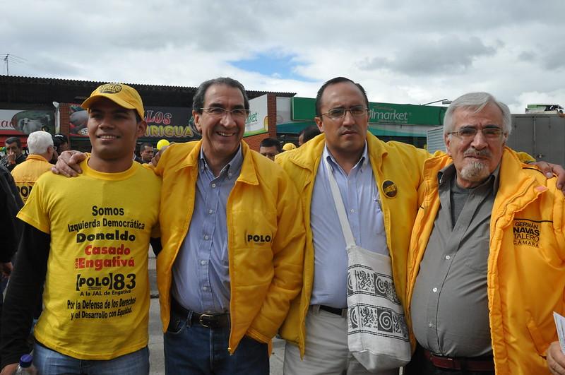 La Caravana amarilla por los Derechos y por los Usuarios llegó a Suba