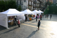 En la plaza Cardenal Orbe estan situados los puestos de la feria