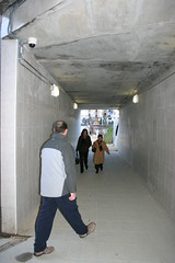 Nueva estación de tren.Tunel nuevo