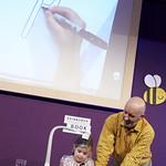 Nick Sharratt | Children get creative in Nick Sharratt's Book Festival event © Helen Jones