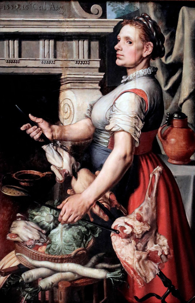 IMG_2533DA Pieter Aertsen. 1507 1575. Amsterdam. The Cook. Brussels. Royal Museums of Fine Arts of Belgium.