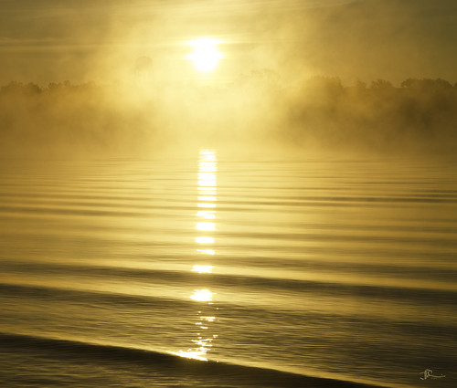 nature water misty sunrise outdoors delawareriver