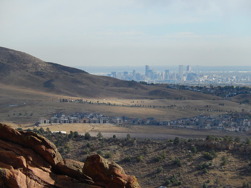 Red Rocks Amphitheatre - Denver skyline