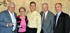 L-R: Warner and Ellen Hall, PDG Matt Kane, PDG Barry Phillips and our club's Foundation Chairman Erik Grunwald.