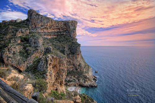 españa photoshop mar spain agua alicante cielo nubes hdr texturas roca acantilado mediterráneo comunidadvalenciana photomatix benitatxell pabloarias