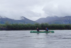 We paddled in the rain