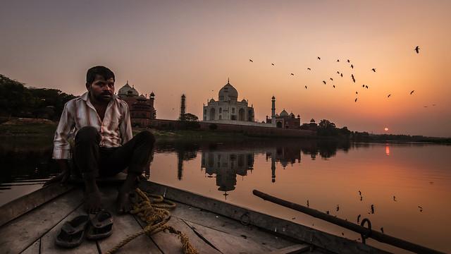 The Boatman - Agra, India