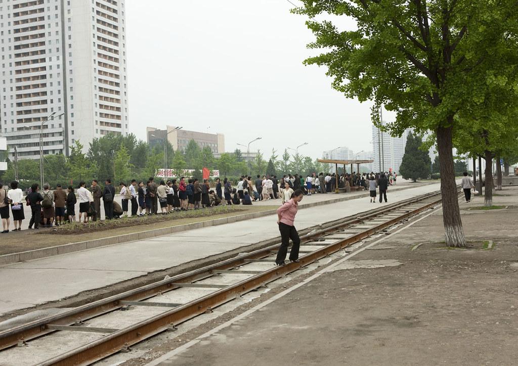 Queueing in Pyongyang - North Korea