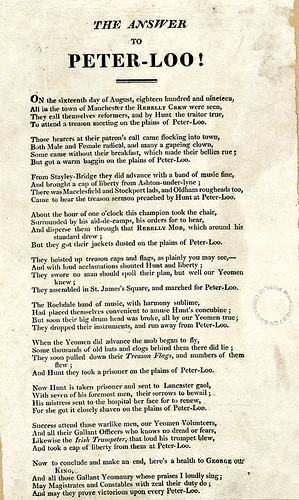 The Answer to Peterloo, 1819 | by archivesplus