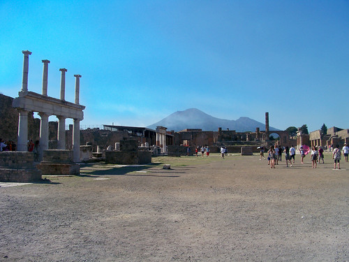 Main Square at Pompeii looking towards Vesuvius | by microbe