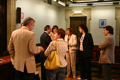 Totorika y concejales de su gabinete reciben a ponentes y asistentes